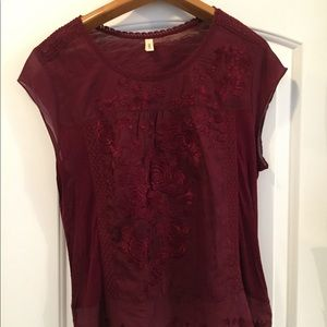 """Anthropologie """"Tiny"""" Embroidered Top"""
